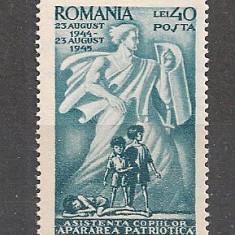 Romania.1945 Asistenta copilului CR.32 - Timbre Romania
