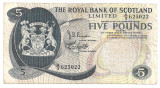 SCOTIA THE ROYAL BANK OF SCOTLAND LIMITED 5 POUNDS LIRE 1969 F