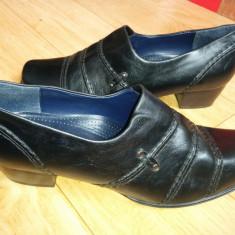 Pantofi din piele firma Ara marime 38, 5, sunt noi! - Pantof dama Ara, Culoare: Negru, Cu talpa joasa