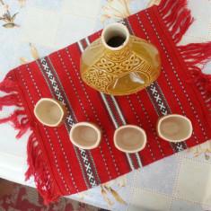 Serviciu set tuica ceramica lucrat manual artizanat traditional deosebit