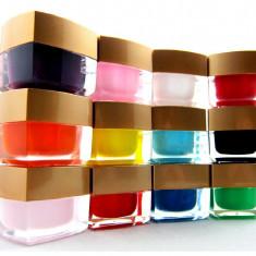 SET 12 geluri unghii gel UV manichiura french sau decor - Gel unghii