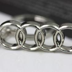 Breloc auto metal pentru AUDI metalic + cutie simpla cadou - Breloc Barbati