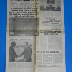 ZIARUL SCANTEIA 10 SEPTEMBRIE 1983 - CEAUSESCU INCHEIE VIZITA IN BOTSWANA. DECRETUL PENTRU MAJORAREA RETRIBUTIEI (01085