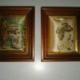 2 piese de agatat pe perete, lucrate manual .reducere
