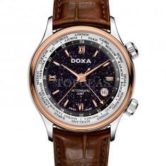 Ceas de lux Doxa Blue Planet GMT Steel Rose Gold, original, nou, cu factura si garantie! - Ceas barbatesc Doxa, Lux - elegant, Mecanic-Automatic, Otel