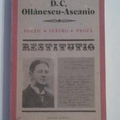 D.C.OLLANESCU-ASCANIO - POEZII \ TEATRU \ PROZA