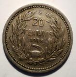 B.210 CHILE 20 CENTAVOS 1938, America Centrala si de Sud, Cupru-Nichel