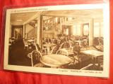 Ilustrata-  Nave-Transatlanticul Massilia- Salonul de Ceai , interbelica