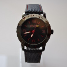 Ceas VAPO cadran negru scris rosu - Ceas unisex