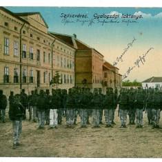 1094 - Hunedoara, ORASTIE, military barracks - old PC, CENSOR - used - 1917 - Carte Postala Transilvania 1904-1918, Circulata, Printata