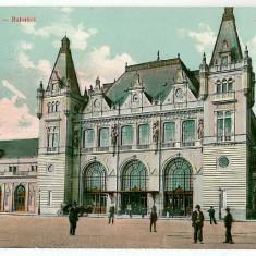 350 - TIMISOARA, Railway Station - old postcard - used - 1908