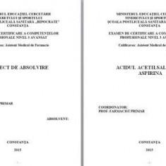 LUCRARE DE LICENTA A.M.F. - ACIDUL ACETILSALICILIC ASPIRINA