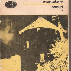 (C5200) ESEURI DE MICHEL DE MONTAIGNE, VOL. 1, EDITURA MINERVA, 1984, TRADUCERE DE MARIELLA SEULESCU