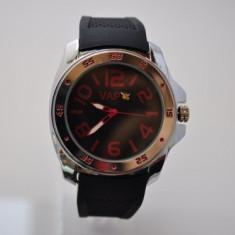 Ceas VAPO curea silicon cadran negru scris rosu - Ceas unisex