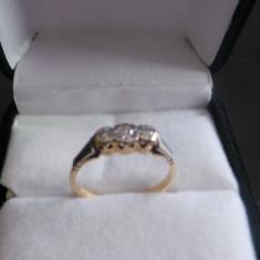 Inel aur cu platina - Inel diamant