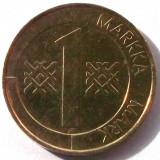 G5. FINLANDA 1 MARKKA MARCA 1996, 5 g., Aluminum-Bronze, 22.2 mm **, Europa