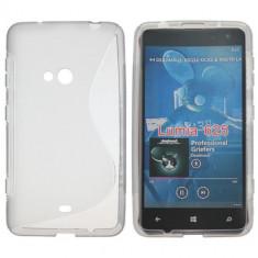 Husa gri silicon Nokia Lumia 625 + - Husa Telefon