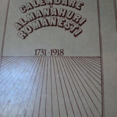 Calendare si almanahuri romanesti 1713-1918 - Istorie