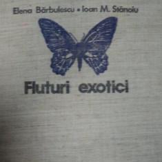 FLUTURI EXOTICI- ELENA BARBULESCU SI IOAN M. STANOIU, BUC.1979 - Carte Biologie