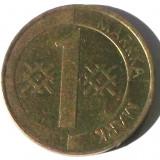 G5. FINLANDA 1 MARKKA MARCA 1995, 5 g., Aluminum-Bronze, 22.2 mm **, Europa