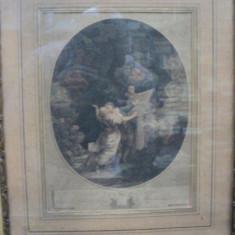 LE SERMENT DÁMOUR- GRAVURA - Pictor roman