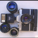 Aparat foto cu film Yashica FR 2+winder+4 obiective