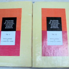 FILOZOFIE SI RELIGIE IN EVOLUTIA CULTURII MODERNE-S. GHITA, D. GHISE 2 VOL - Carte Psihologie
