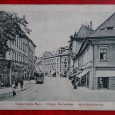 Carte postala - Strada Regina Maria - Sibiu - Circulat - Carte Postala Transilvania dupa 1918
