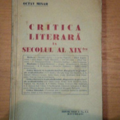 CRITICA LITERARA IN SECOLUL AL XIX LEA- OCTAV MINAR - Studiu literar