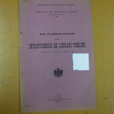 Ministerul lucrarilor publice Serviciul de poduri si sosele Olt Noi conditii generale pentru intreprinderi de lucrari publice Slatina 1912