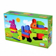Set de cuburi pentru constructie - ZOO - Set de constructie