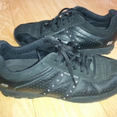 Adidasi din piele firma SKECHERS marimea 39, purtati o singura data! - Adidasi dama Skechers, Culoare: Negru, Piele naturala