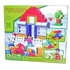 Set de cuburi pentru constructie - Casuta minunata - Set de constructie, Unisex