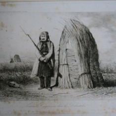 GRAVURA-VALERIO 1855 - Pictor roman