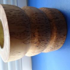 Sfesnic lemn pt 1 lumanare-deosebit-11x9.5 cm-lumanari subtiri/lumanari pastila - Lumanare parfumata