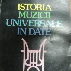 ISTORIA MUZICII UNIVERSALE IN DATE- IOSIV SAVA SI PETRU RUSU, BUC. 1983 - Muzica Dance