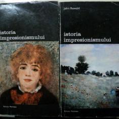 ISTORIA IMPRESIONISMULUI- JOHN REWALD- BUC.1974 - VOL.I-II - Carte Istoria artei