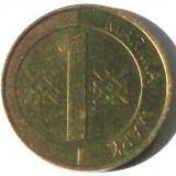 G5. FINLANDA 1 MARKKA MARCA 1994, 5 g., Aluminum-Bronze, 22.2 mm **, Europa