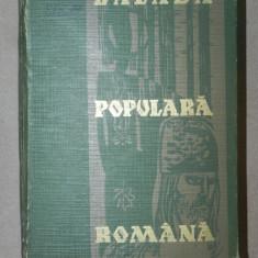 BALADA POPULARA ROMANA-GHEORGHE VRABIE 1966 - Carte Fabule