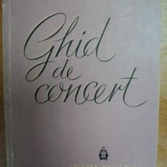 GHID DE CONCERT- EUGEN PRICOPE, VASILE CRISTIAN…. BUC. 1961 - Muzica Dance
