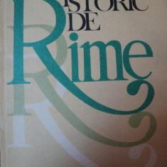 DICTIONAR ISTORIC DE RIME-OLIMPIA BERCA BUCURESTI 1983 - Carte in alte limbi straine