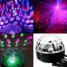 LUMINI DISCO/DISCOTECA MAGIC BALL Glob rotativ disco. TELECOMANDA. STICK. USB. - Lumini club