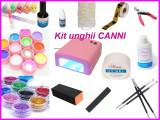 Set unghii false tehnice cu Lampa UV 36 w Gel constructie geluri colorate CANNI Sabloane Tipsuri Pensule  SET COMPLET CEL MAI BUN PRET !!!