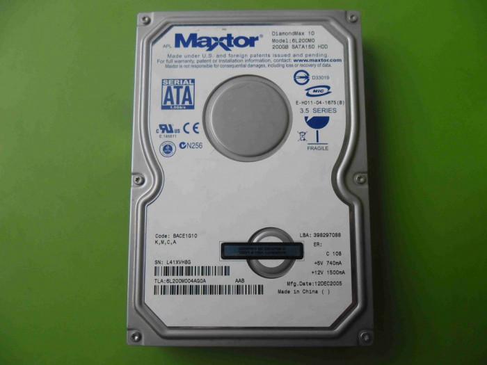 HDD 200GB Maxtor DiamondMax 10 6L200M0 ATA IDE - DEFECT