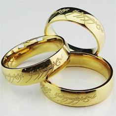 Inel Lord Of The Rings LOTR , Stapanul Inelelor - Material Titan si Inox foto