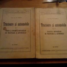 TRACTOARE SI AUTOMOBILE  ---  Tr, Bobeica  --  2 volume, 1959, curs litografiat, Alta editura