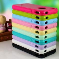 Carcasa Case Din Silicon Plastic pentru Iphone 4 si Iphone 4S Diferite Culori - Husa Telefon Apple, iPhone 4/4S