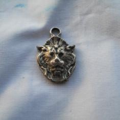 Splendid si Vechi Medalion Cap de Leu ( deosebit ) Vintage