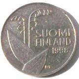 G5. FINLANDA 10 PENNIA 1998, 1.80 g., Copper-Nickel, 16.3 mm LACRAMIOARE **, Europa