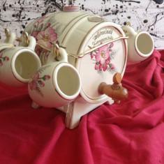 Frumos butoias din ceramica cu 6 cani pentru tarie - Handmade !!!